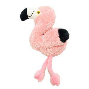 Pink Faux Fur Flamingo Stuffy Toy